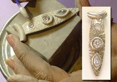 Learn from Master Instructor Emeritus in Art Clay Silver, Lorrene Baum-Davis, about ways to successfully set stones in your metal clay projects. Metal Clay Jewelry, Polymer Clay Jewelry, Clay Beads, Fabrication Metal, Creation Deco, Precious Metal Clay, Polymer Clay Creations, Jewelry Crafts, Jewelry Making