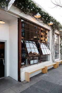 The scottish bean cafe window, coffee shop los angeles, art restaurant, restaurant design Restaurant Design, Café Restaurant, Restaurant Seating, Outdoor Restaurant, Outdoor Cafe, Coffee Shop Design, Cafe Design, Terrace Design, Café Bistro