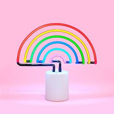 rainbow neon light - large by sunnylife - lamp - ban.do