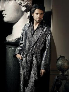 """Gavriel Pajamas """"although I don't really need to sleep I won't turn my nose up at the chance to walk around in such leisurely attire"""