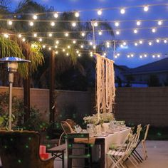 Patio lighting ... not just for parties.
