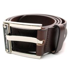 Casual Leather Belt in Dark Brown