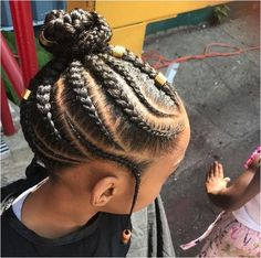 If you have been looking for little girl braids with beads that will give your little girl sweet smi Toddler Braided Hairstyles, Toddler Braids, Bun Hairstyles For Long Hair, Baby Girl Hairstyles, Natural Hairstyles For Kids, Braids For Kids, My Hairstyle, Girls Braids, Black Girls Hairstyles