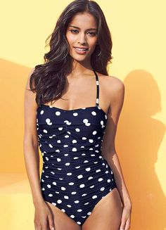 Spot Print Shaping Swimsuit