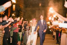 Image by  Wookie Photography - A destination wedding in The Dordogne, France with a Belle & Bunty gown, colour pop bouquets and photography by Wookie Photography