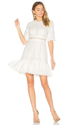 545d81f0e5ce Shop for Zimmermann Caravan Embroidered Flip Dress in Ivory at REVOLVE.  Free 2-3