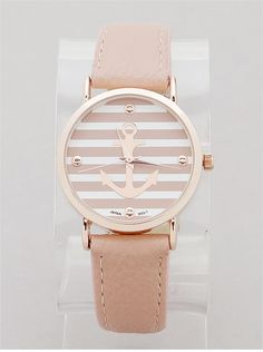 P.S. I Love You More Boutique | Blush Anchor Watch | Spring Summer Fashion 2014 www.psiloveyoumoreboutique.com