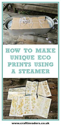 Have you ever heard of Eco Prints? Eco printing is the process of using natural plant materials such as leaves, flowers and bark to dye paper or textiles. Shibori, Craft Tutorials, Craft Projects, Natural Dye Fabric, Natural Dyeing, Fabric Crafts, Paper Crafts, Textiles, Card Making Supplies