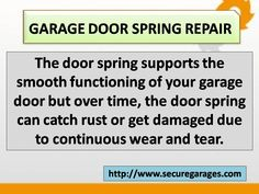 Secure for Sure provides best Garage Door Spring, Cable & opener repair Services in Pennsylvania, Delaware and New Jersey. We assure quality services of garage door replacement, maintenance and installation. Garage Door Spring Repair, Garage Door Opener Repair, Overhead Garage Door, Garage Doors, Garage Door Springs, New Jersey