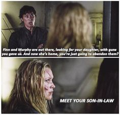 Meet your son-in-law || The 100 || Clarke Griffin and Bellamy Blake || tumblr - clarkebell || Bob Morley and Eliza Jane Taylor || Bellarke
