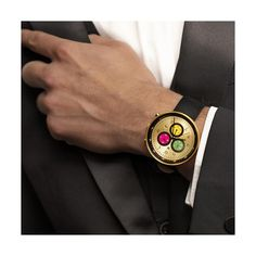 A modern British-designed men's chronograph watch. A brushed gold case with multicoloured chronograph subdials in contemporary colour. Interchangeable multicoloured canvas and black leather straps. Latest Watches, Men's Watches, Sister Jewelry, Modern Watches, Striped Canvas, Gold Stripes, Watch Sale, Monte Carlo, Watch Brands