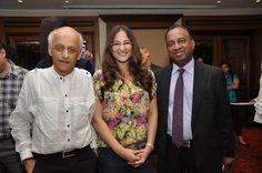 Mukesh Bhatt, Rakshanda Khan and Sadha Naidoo at Taj Lands End Mumbai.