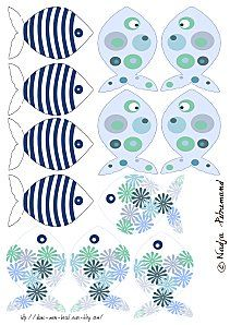 téléchargement libre - petites illustrations à imprimer sur papier transfert Free Frames, Print Fonts, Printable Paper, Free Printable, Little Fish, Creative Artwork, Ocean Themes, Crafty Kids, Red Fish