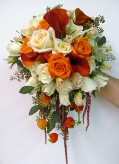Fall Wedding Bouquets | The bridal bouquet, designed by owner, Nancy Lipinoga, was a beautiful ...