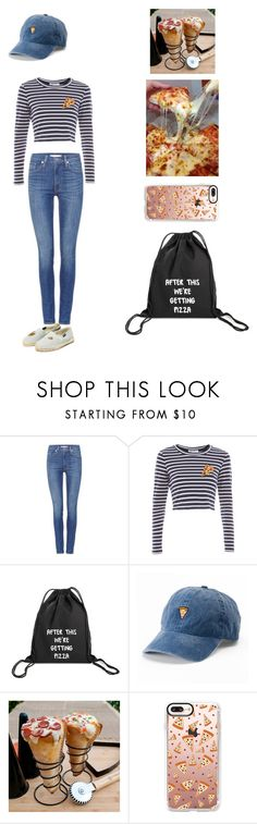 """Pizza"" by anxiousgirl ❤ liked on Polyvore featuring Levi's, SO, Improvements and Casetify"