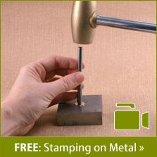 EXCELLENT tutorial (38 minutes) on creating stamped jewelry
