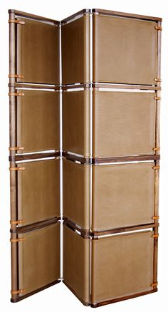 Leather Room Divider customizable! -jsd Lambert Folding Screen