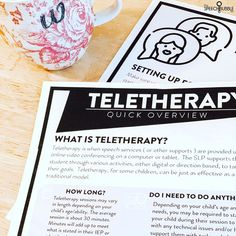 This tidal wave of teletherapy info has been a bit overwhelming for me as a professional, so I can only imagine how the parents of our students are handling it all 😬😳-I made this handout for parents giving them some basic info on teletherapy, tips for a good session, and some helpful expectations.