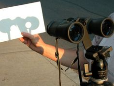 You can view the Transit of Venus across the Sun on Tuesday 6/5/2012 afternoon using a pair of binoculars and a sheet of white paper. Leave the caps on or cover one side and use the other to project an image. DO NOT LOOK AT THE SUN DIRECTLY OR THROUGH THE BINOCULARS!