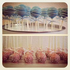 Drizzled and sprinkled cake pops