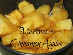 Super easy, delicious, healthy Microwave Cinnamon Apples.  Takes under 5 minutes and only three ingredients to prepare!