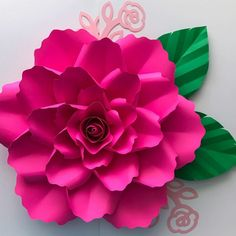 PDF Paper Flower template Digital Version Now Including The