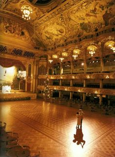 I want to show James the Ballroom where my Mom used to dance when she was a girl.  Blackpool, England.