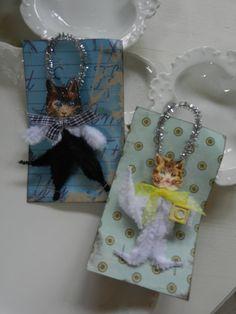 Cat Chenille Ornaments