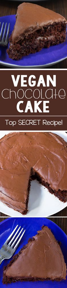 Can you guess what's in this vegan chocolate cake?