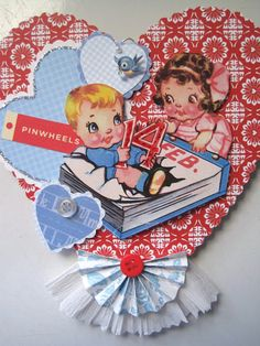 Make your own Valentines using vintage images