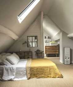 Surprising Attic renovation pictures,Attic soffit bathroom fan and Attic bedroom storage ideas. Attic Master Bedroom, Attic Bedroom Designs, Farmhouse Master Bedroom, Attic Design, Bedroom Loft, Home Decor Bedroom, Interior Design, Bedroom Ideas, Attic Bathroom