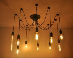 6heads Simplestyle DIY Lamp High-end design top sucking ceiling chandelier Spider Lamp E27 lamp-socket show the line beauty