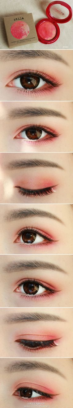 RED eye shadow.