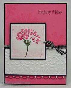 pink birthday wishes by cookiestamper - Cards and Paper Crafts at Splitcoaststampers