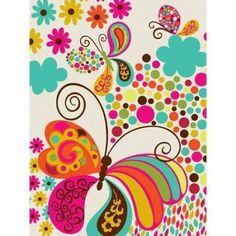 Oopsy Daisy - Folk Fairy Tale - Fly Away Canvas Wall Art 18x24, Mary Beth Freet