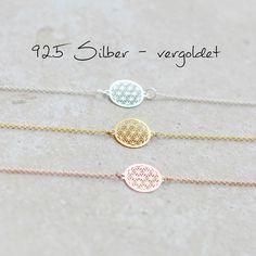 Vergoldete Armbänder - ♥Armband - Blume des Lebens -925 Silber vergoldet - ein Designerstück von glashuepfer bei DaWanda