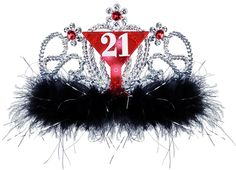 Totally getting this for your 21st Birthday Party! Light Up 21 Tiara
