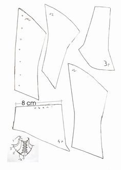 Neck corset pattern Kinda wanna use something like this for Mara, to add that extra texture to the suit. Cosplay Tutorial, Cosplay Diy, Corset Pattern, Collar Pattern, Steampunk Costume, Steampunk Diy, Sewing Hacks, Sewing Projects, Clothing Patterns