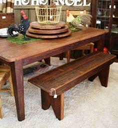 6u0027 Handmade Reclaimed Heart Pine Farm Table By SalvationTreasures, $750.00