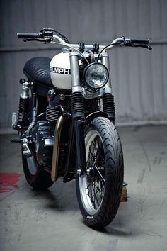 News from the custom scene - If you're into new-wave custom bikes, neo-retro motorcycles, moto gear or moto-culture you'll probably be into RENCHLIST. Triumph Cafe Racer, Triumph Motorcycles, Cool Motorcycles, Vintage Motorcycles, Triumph Scrambler, Triumph Bonneville, Cafe Racers, Retro Motorcycle, Motorcycle Design
