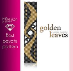 GoldenLeaves Peyote Pattern  MDesign by MDesignJewellery on Etsy, zł11.70