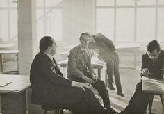 Mies van der Rohe...with students at the Bauhaus...1933