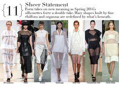 Spring summer 2014 - 11 Sheer statement