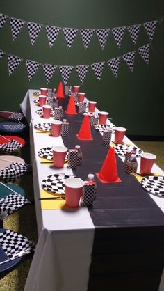 Blaze and the monster machine party race theme boys birthday party awesome and simple