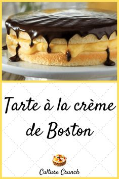 Boston Cream Pie, French Food, Biscuits, Sweet Treats, Cheesecake, Good Food, Food And Drink, Cooking, Ethnic Recipes