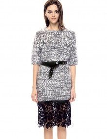 Joanna Fringe Sweater Dress