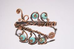 A personal favorite from my Etsy shop https://www.etsy.com/listing/191905557/wire-wrapped-turquoise-braceletwire