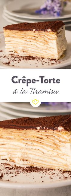 Zarte französische Crêpes treffen auf vollmundiges italienisches Tiramisu. Kein Wunder, dass dabei eine süße Versuchung entsteht.