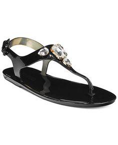 c2221e89f MICHAEL Michael Kors Jayden Jeweled Jelly Flat Thong Sandals   Reviews -  Sandals   Flip Flops - Shoes - Macy s