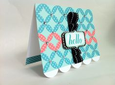 Courtney Lane Designs: Hello card made using the Simple cards cartridge.